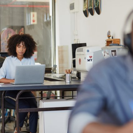 Shot of a young female designer working on her laptop in the officehttp://195.154.178.81/DATA/i_collage/pu/shoots/804978.jpg